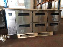 PG400 6 Drawer 1/1 Underbench GN Freezer